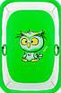 Манеж Qvatro Солнышко-02 мелкая сетка  зеленый (owl), фото 2