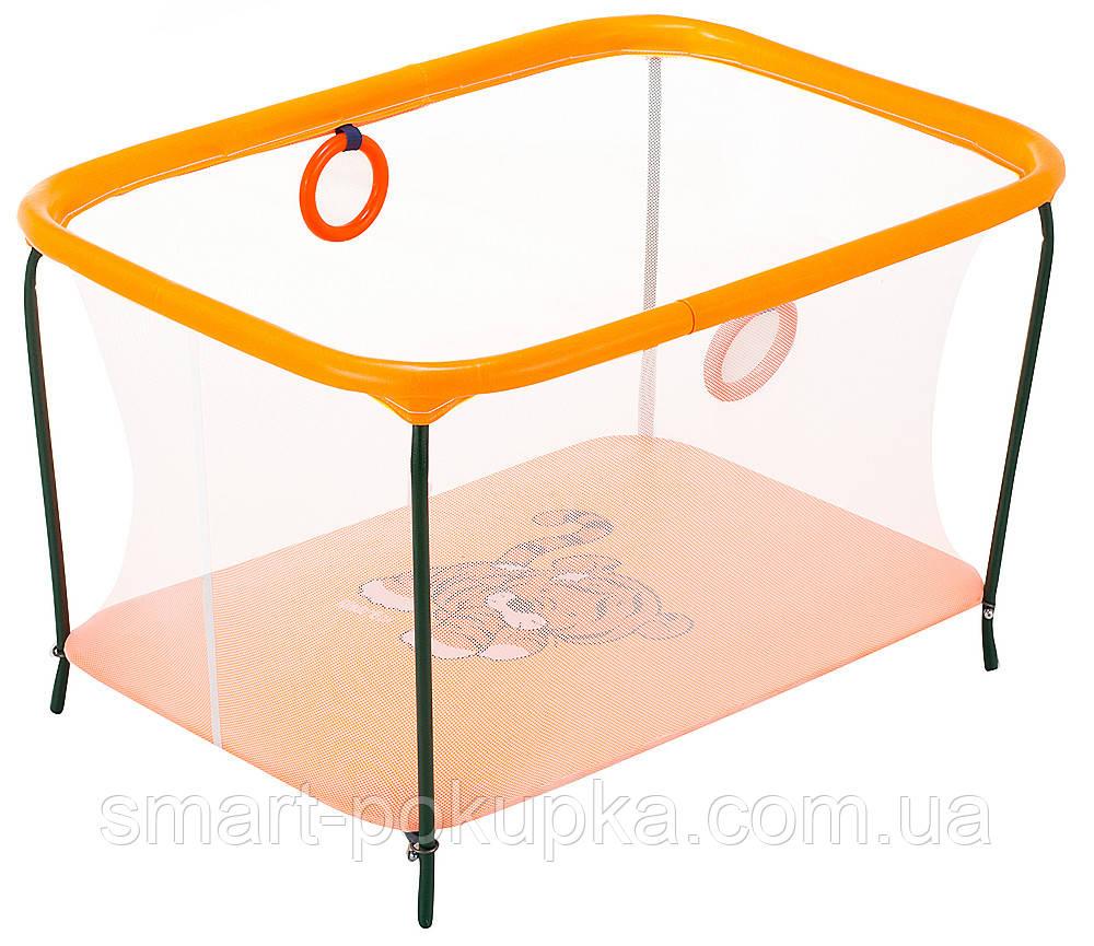 Манеж Qvatro LUX-02 мелкая сетка  оранжевый (tiger)