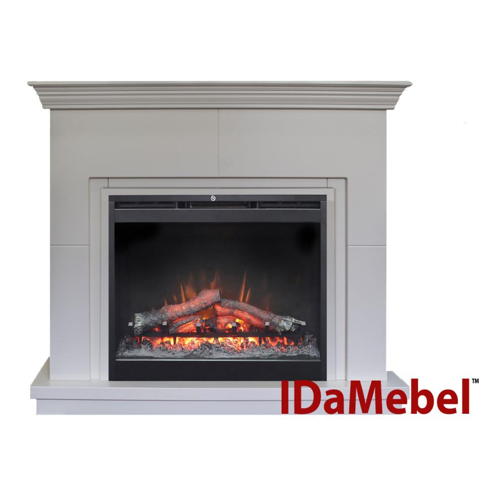 Современный камин IDaMebel Montreal DF2624L-INT эффект мерцающих дров и пламени с обогревом