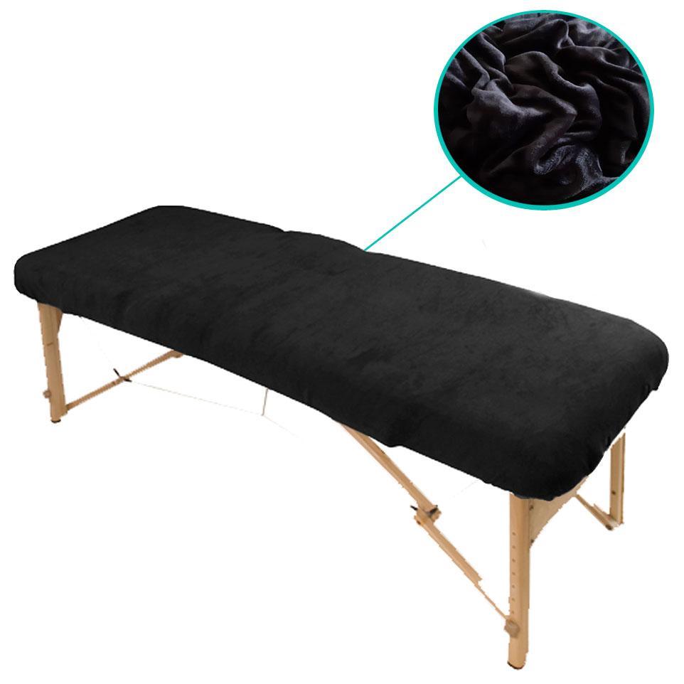 Чехол на кушетку Плюшевый, Черный (90 х 210 см)
