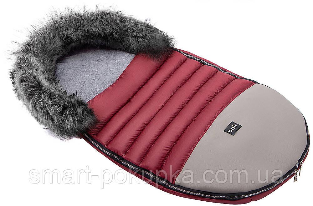 Зимний конверт Bair Polar premium  бордо - серая кожа