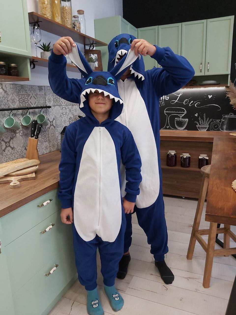 Пижама костюм Кигуруми Стич для всей семьи, детей, взрослых