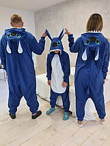 Пижама костюм Кигуруми Стич для всей семьи, детей, взрослых, фото 2