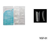 Прозрачные типсы с фигурной линией улыбки Lady Victory (500 шт.) LDV VGF-01 /90-1
