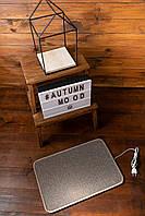 Электро-коврик с подогревом (коричневый, закругленные углы, 50 x 33 см) электрический Трио 01502