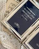 Старая английская фоторамка на два фото, парная рамка, посеребренный металл, Англия, винтаж, фото 6
