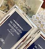 Старая английская фоторамка на два фото, парная рамка, посеребренный металл, Англия, винтаж, фото 5