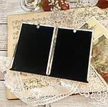 Старая английская фоторамка на два фото, парная рамка, посеребренный металл, Англия, винтаж, фото 8