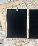 Старая английская фоторамка на два фото, парная рамка, посеребренный металл, Англия, винтаж, фото 10