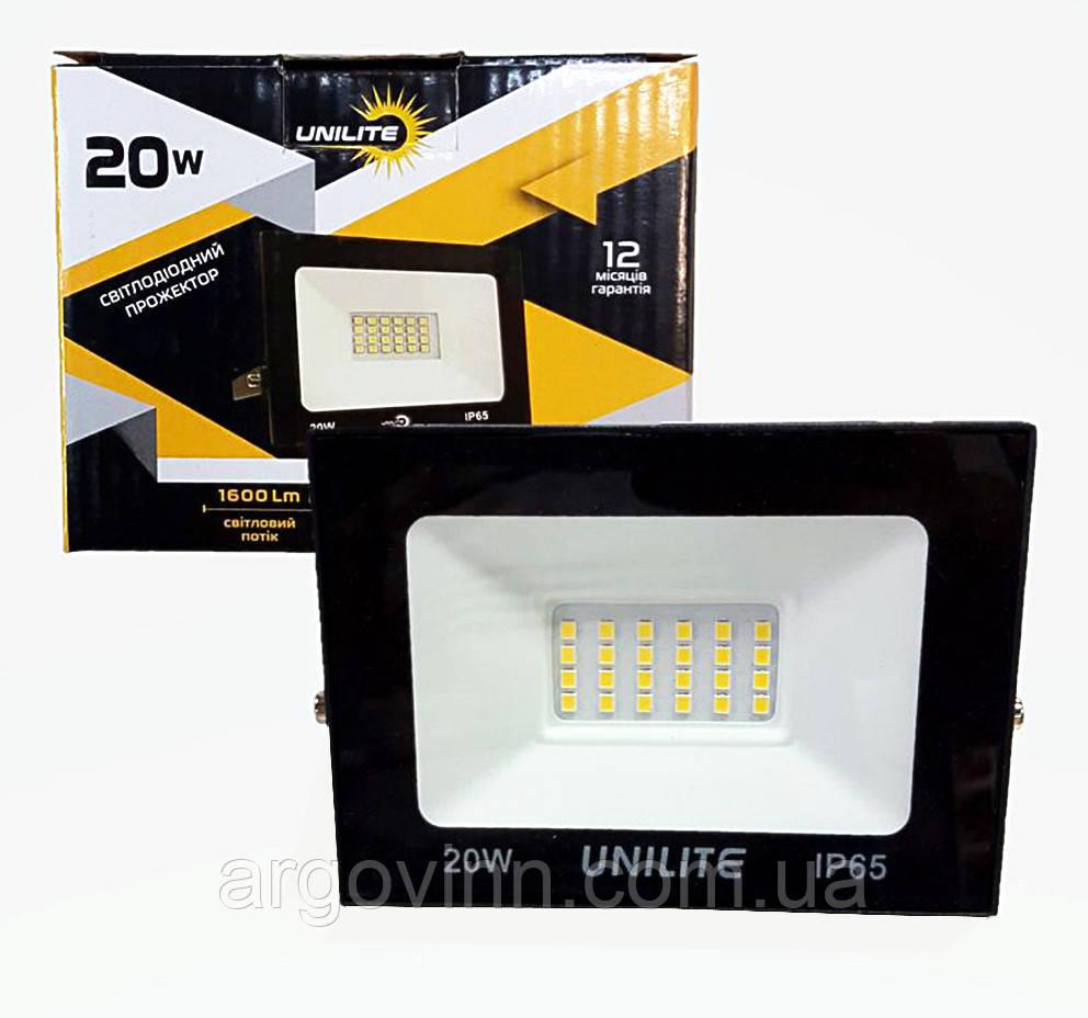 LED прожектор UNILITE 20W 220V 1600lm 6500K (UL-109536)