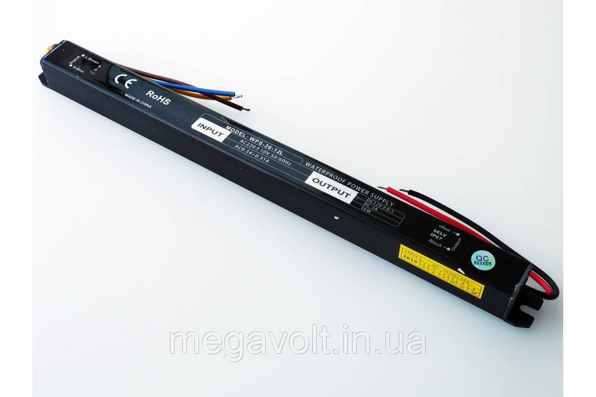 Блок питания 36W 12V герметичный premium SLIM