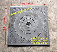 Плита чугунная под казан 530х530 мм барбекю, мангал, печи чугунное литье