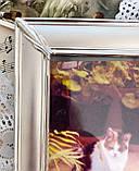 Старая английская фоторамка, рамка для фото, посеребренный металл, Англия, винтаж, фото 4