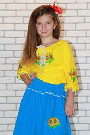 Детские вышитые платья, костюмы