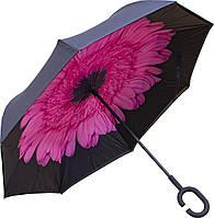 Зонт Up-Brella Цветок Розовый умный зонт антизонт обратное сложение ветрозащитный водоотталкивающий