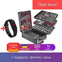 Набор инструментов 186 шт. в чемодане | набор ручных профессиональных универсальных инструментов для дома