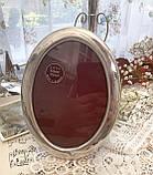 Старая английская овальная фоторамка, рамка для фото, посеребренный металл, Англия, винтаж, фото 2