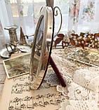 Старая английская овальная фоторамка, рамка для фото, посеребренный металл, Англия, винтаж, фото 4