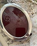 Старая английская овальная фоторамка, рамка для фото, посеребренный металл, Англия, винтаж, фото 6