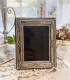 Старая английская фоторамка, рамка для фото, посеребренный металл, Англия, винтаж, фото 2