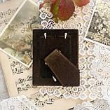 Старая английская фоторамка, рамка для фото, посеребренный металл, Англия, винтаж, фото 6