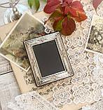 Старая английская фоторамка, рамка для фото, посеребренный металл, Англия, винтаж, фото 8