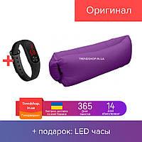 Диван мешок надувной матрас | надувной шезлонг-мешок водонепроницаемый Ламзак фиолетовый