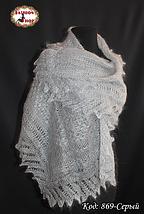 Женский серый пуховый плантин Эдита, фото 2