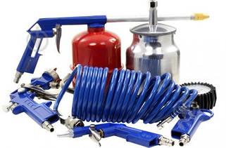 Набор пневмоинструмента к компрессору