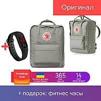 Городской рюкзак | рюкзак Канкен | портфель канкен 16л Fjallraven Kanken Classic серый