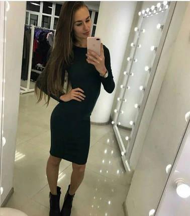 Платье черное облегающее до колена трикотаж, фото 2