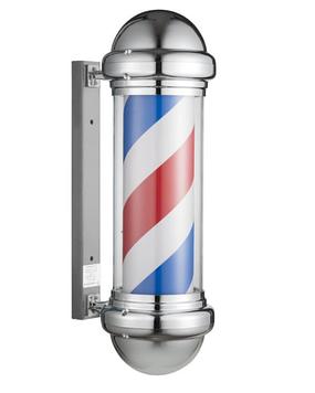 """Стойка рекламная для барберов Eurostil """"Barber`s pole"""", Хром"""
