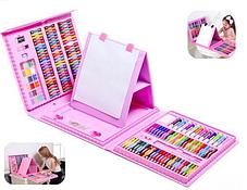 Детский набор для рисования 208 предметов Набор для детского творчества в чемодане Чемодан юного художника, фото 2