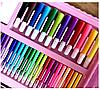 Детский набор для рисования 208 предметов Набор для детского творчества в чемодане Чемодан юного художника, фото 5