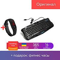 Клавиатура с подсветкой для компьютера | игровая клавиатура проводная usb M-200