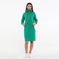 Платье худи от производителя LINS Анна (зеленый)