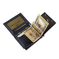 Зажим-портмоне для купюр из натуральной кожи Desisan t100/2 темно-синий