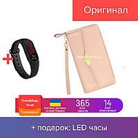 Кошелек - портмоне женский | на молнии, PU кожа | портмоне | клатч TQ100A Wallerry нежно-розовый