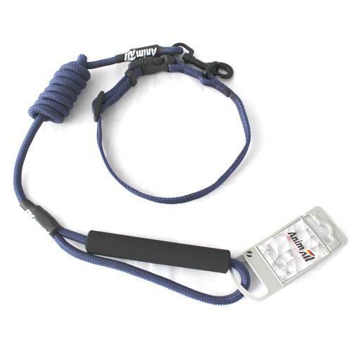 Комплект нашийник з повідцем AnimAll для собак M темно-синій