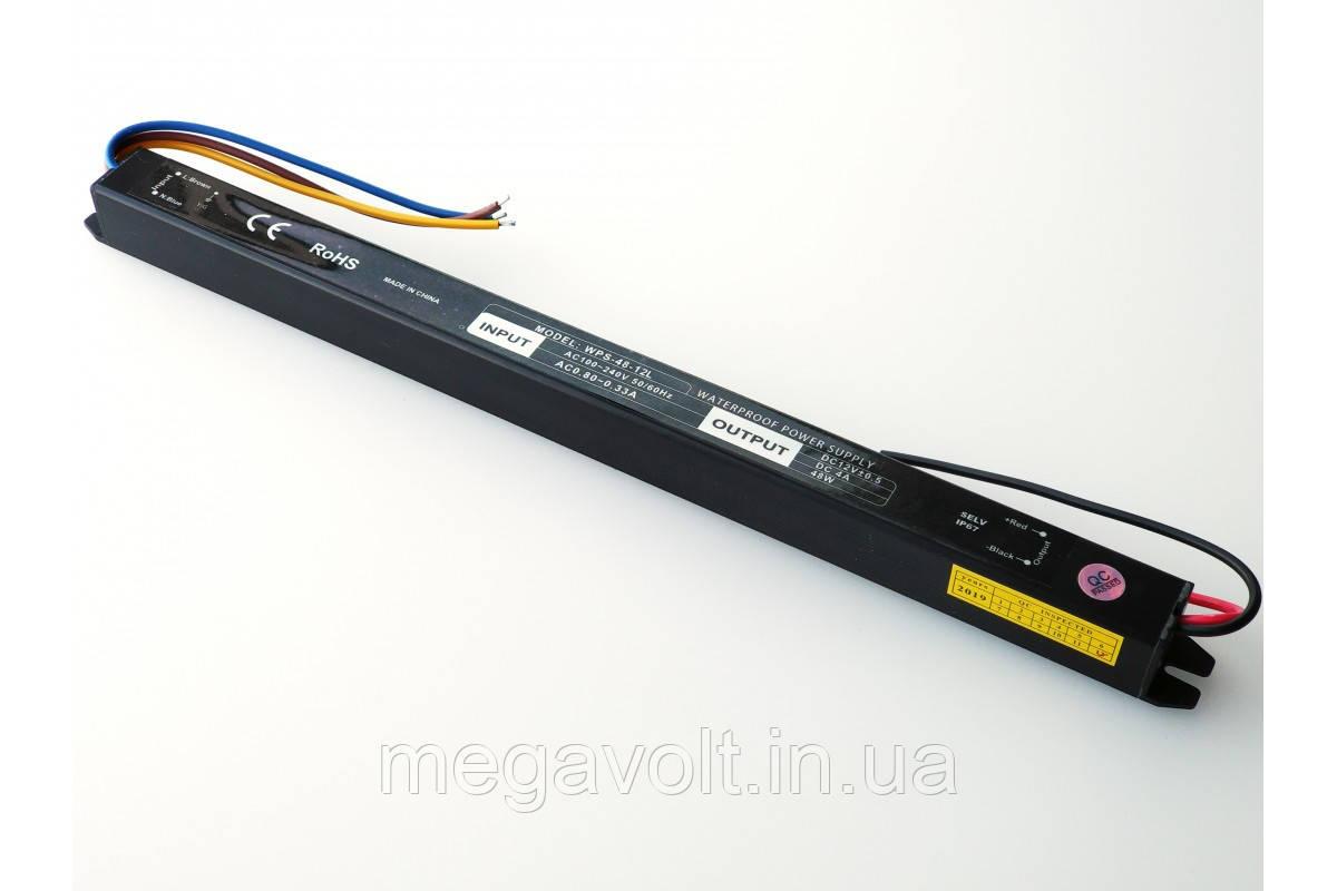 Блок питания 48W 12V герметичный premium SLIM