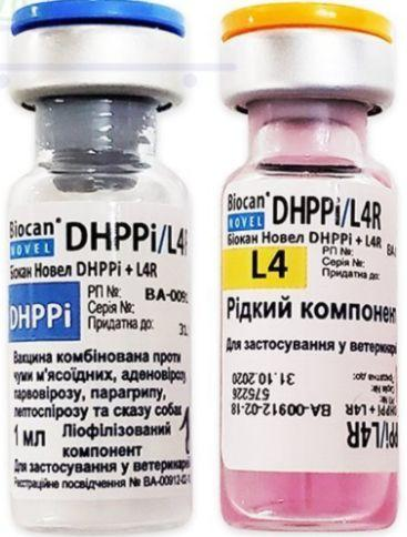 БИОКАН НОВЕЛ DHPPI/L4R, BIOCAN NOVEL DHPPI/L4R вакцина для собак (бешенство,чума,аденовирус,парагрипп), 1 доза