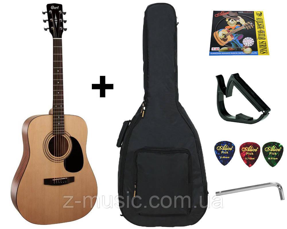 Гитара акустическая Cort AD810 OP (чехол, капо, медиатор, ключ, струна)