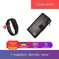 Мужской клатч | портмоне | кошелек | бумажник Wallerry Business S1063 Коричневый