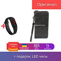 Кошелек портмоне | портмоне женский из искусственной замши | клатч Wallerry XW3333 тёмно-серый