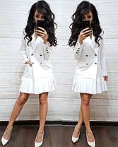 Платье пиджак на пуговицах снизу плиссировка, фото 2