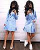 Платье пиджак на пуговицах снизу плиссировка, фото 4
