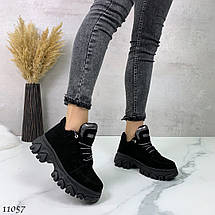 Черные кроссовки с большой подошвой 11057 (ЯМ), фото 3