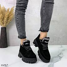 Черные кроссовки с большой подошвой 11057 (ЯМ), фото 2