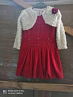 Платье на девочку, велюровые с болеро, рост 104 на 4 года (СКЛАД), фото 1