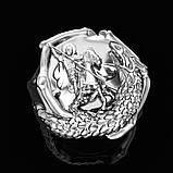 Кольцо серебряное Георгий Победоносец КЦ-140 Б, фото 2